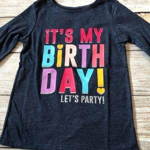 NWT Garanimals It's My Birthday 3T Shirt Party L/S